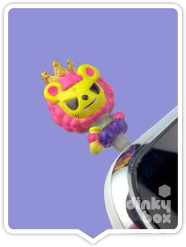 "OPEN PACKAGE Tokidoki Phonezies : 1"" The Royal Pride Lion Papa phone charm (complete with all original packaging) - moosedinky"