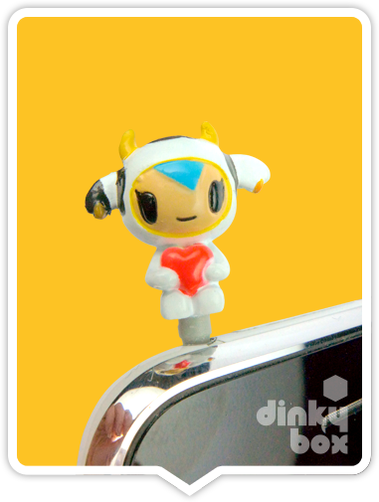 "OPEN PACKAGE Tokidoki Phonezies : 1"" Moofia Mozzarella phone charm (complete with all original packaging) - moosedinky"
