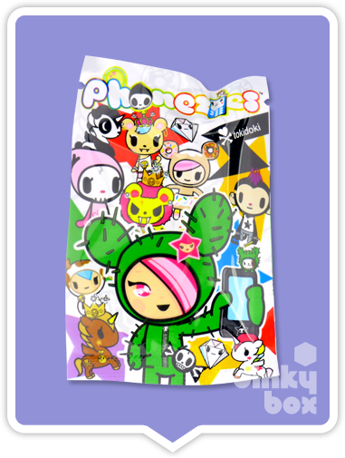 "OPEN PACKAGE Tokidoki Phonezies : 1"" Cactus Friends Bastardino phone charm (complete with all original packaging) - moosedinky"