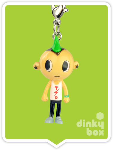 "OPEN BOX Tokidoki Punkstar Frenzies : 1.5"" Bean zipper pull / charm (complete with all original packaging) - moosedinky"