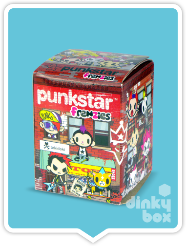"OPEN BOX Tokidoki Punkstar Frenzies : 1.5"" Rolly Kitty zipper pull / charm (complete with all original packaging) - moosedinky"