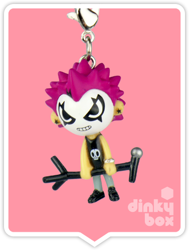 "OPEN BOX Tokidoki Punkstar Frenzies : 1.5"" Chuckee zipper pull / charm (complete with all original packaging) - moosedinky"