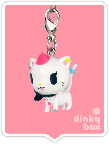 "OPEN BOX Tokidoki Punkstar Frenzies : 1.5"" Kona Kitty zipper pull / charm (complete with all original packaging) - moosedinky"