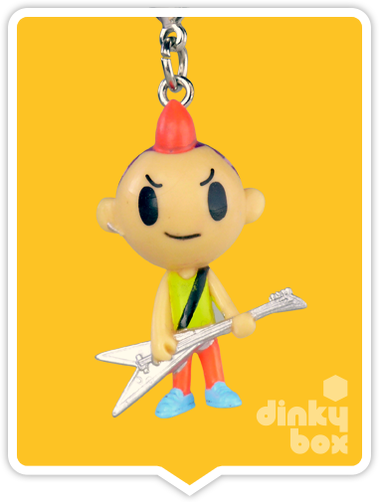 "OPEN BOX Tokidoki Punkstar Frenzies : 1.5"" Les zipper pull / charm (complete with all original packaging) - moosedinky"