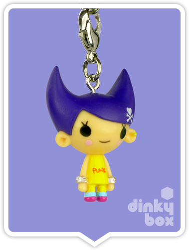 "OPEN BOX Tokidoki Punkstar Frenzies : 1.5"" Nancy zipper pull / charm (complete with all original packaging) - moosedinky"