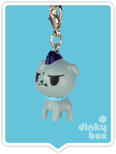 "OPEN BOX Tokidoki Punkstar Frenzies : 1.5"" Rudy Pup zipper pull / charm (complete with all original packaging) - moosedinky"