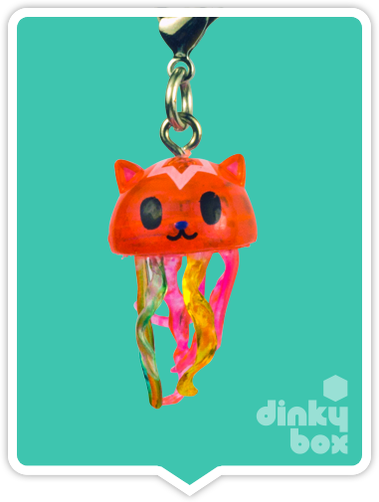 "OPEN BOX Tokidoki Sea Punk Frenzies : 1"" Jelly Cat zipper-pull / charm (complete with all original packaging) - moosedinky"