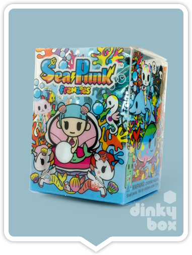 "OPEN BOX Tokidoki Sea Punk Frenzies : 1"" Adios & Sharky zipper-pull / charm (complete with all original packaging) - moosedinky"