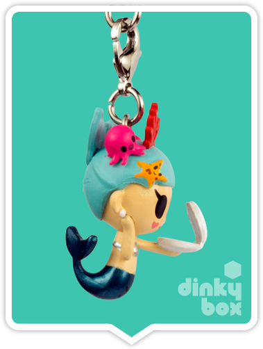 "OPEN BOX Tokidoki Sea Punk Frenzies : 1"" Coralina zipper-pull / charm (complete with all original packaging) - moosedinky"