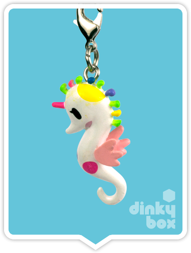 "OPEN BOX Tokidoki Sea Punk Frenzies : 1"" Sea Amo zipper-pull / charm (complete with all original packaging) - moosedinky"