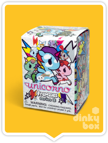 "OPEN BOX Tokidoki Unicorno Frenzies S2: 1"" Can Can zipper pull/charm (complete with all original packaging) - moosedinky"