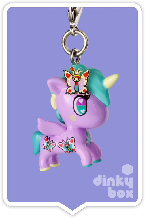 "OPEN BOX Tokidoki Unicorno Frenzies S2: 1"" Lily zipper pull/charm (complete with all original packaging) - moosedinky"