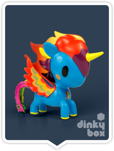 "OPEN BOX Tokidoki Unicorno S6 : 3"" Fuego (complete with all original packaging) - moosedinky"