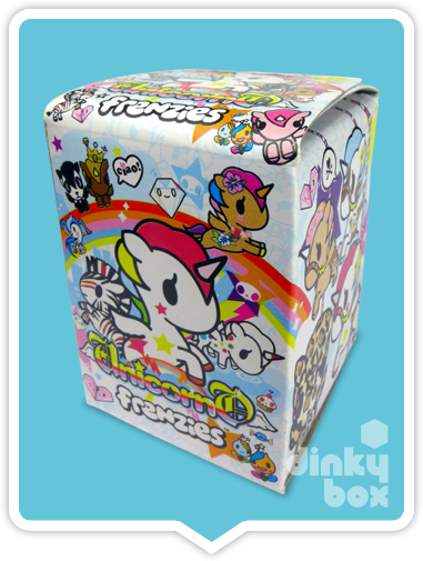 "OPEN BOX Tokidoki Unicorno Frenzies S1 : 1"" Prima Donna zipper pull/charm (complete with all original packaging) - moosedinky"