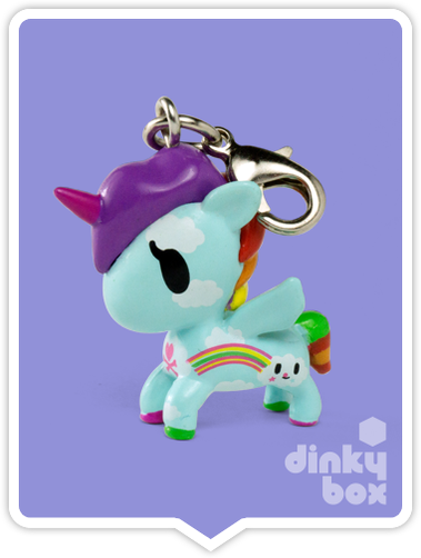 "OPEN BOX Tokidoki Unicorno Frenzies S2: 1"" Pixie zipper pull/charm (complete with all original packaging) - moosedinky"