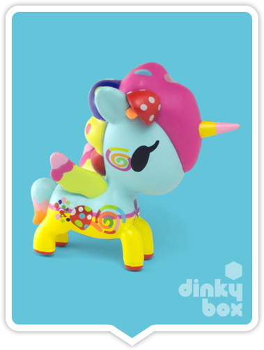 "OPEN BOX Tokidoki Unicorno S5 : 3"" Kinoko (complete with all original packaging) - moosedinky"
