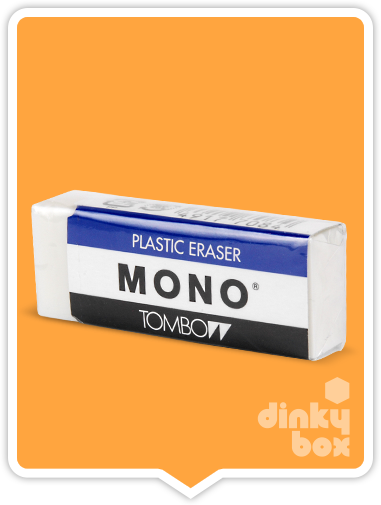 Tombow Mono Plastic Eraser : Ideal for removing all mistakes. regarded as the best eraser since it was released in 1969 - moosedinky