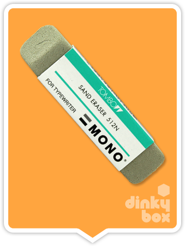 Tombow Mono Sand Eraser : Ideal for removing screentone. Natural latex and scilia grit eraser - moosedinky