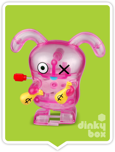 "LOOSE Uglydoll WKW Windup : 3"" High qualty clockwork (windup) Walking Ox mini figure (wind the knob slowly and gently - no returns for overwound wind-ups, sorry) - tested prior to dispatch :) - moosedinky"