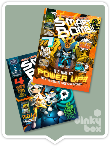 dinky DEAL - ARTIST SIGNED Smart Bomb Comic Twin Pack :  (Signed by Wil Overton) 44 beautifully illustrated pages + FREE POSTAGE - moosedinky