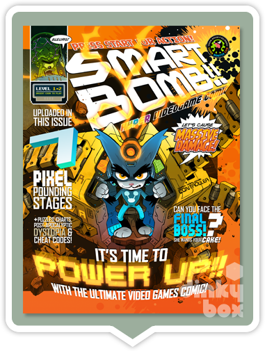 "Smart Bomb Comic Level 1-2 : From the mind of illustrator Wil Overton & his creative mates - 44 full colour fab x 8.25"" x 10.75"" beautifully illustrated pages - moosedinky"