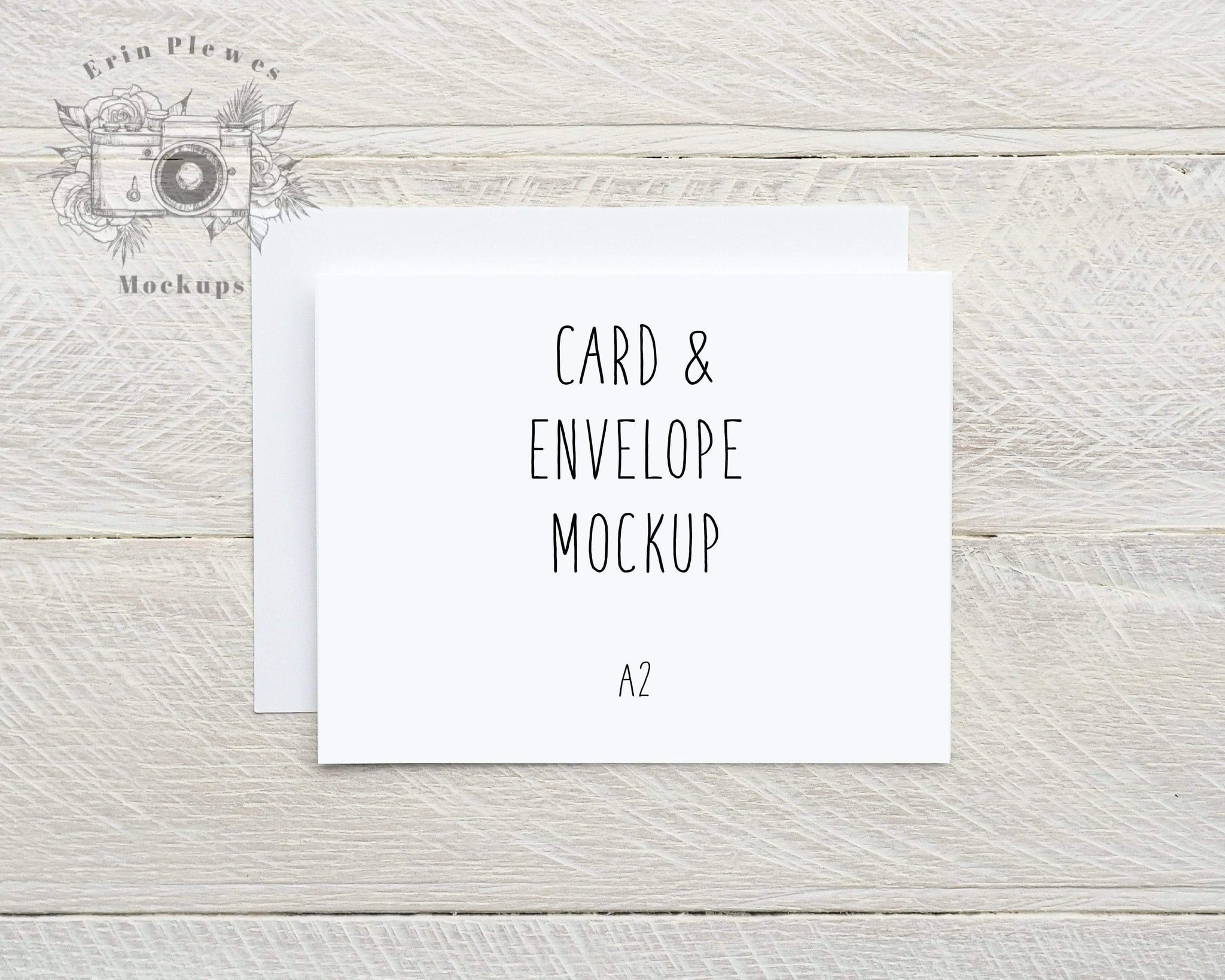 Card Mockup with White Envelope A21, Invitation Mock Up, Greeting Card In A2 Card Template