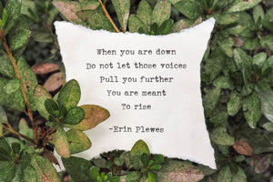 """You Are Meant To Rise"" Green Inspirational Poem Art 