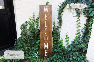 "Erin Plewes Mockups Porch Sign Mockup, Large Wood Sign Mock Up 12"" x 48"", Rustic Wood Frame Mock-up 1' x 4', Brown Farmhouse Style Sign Template"