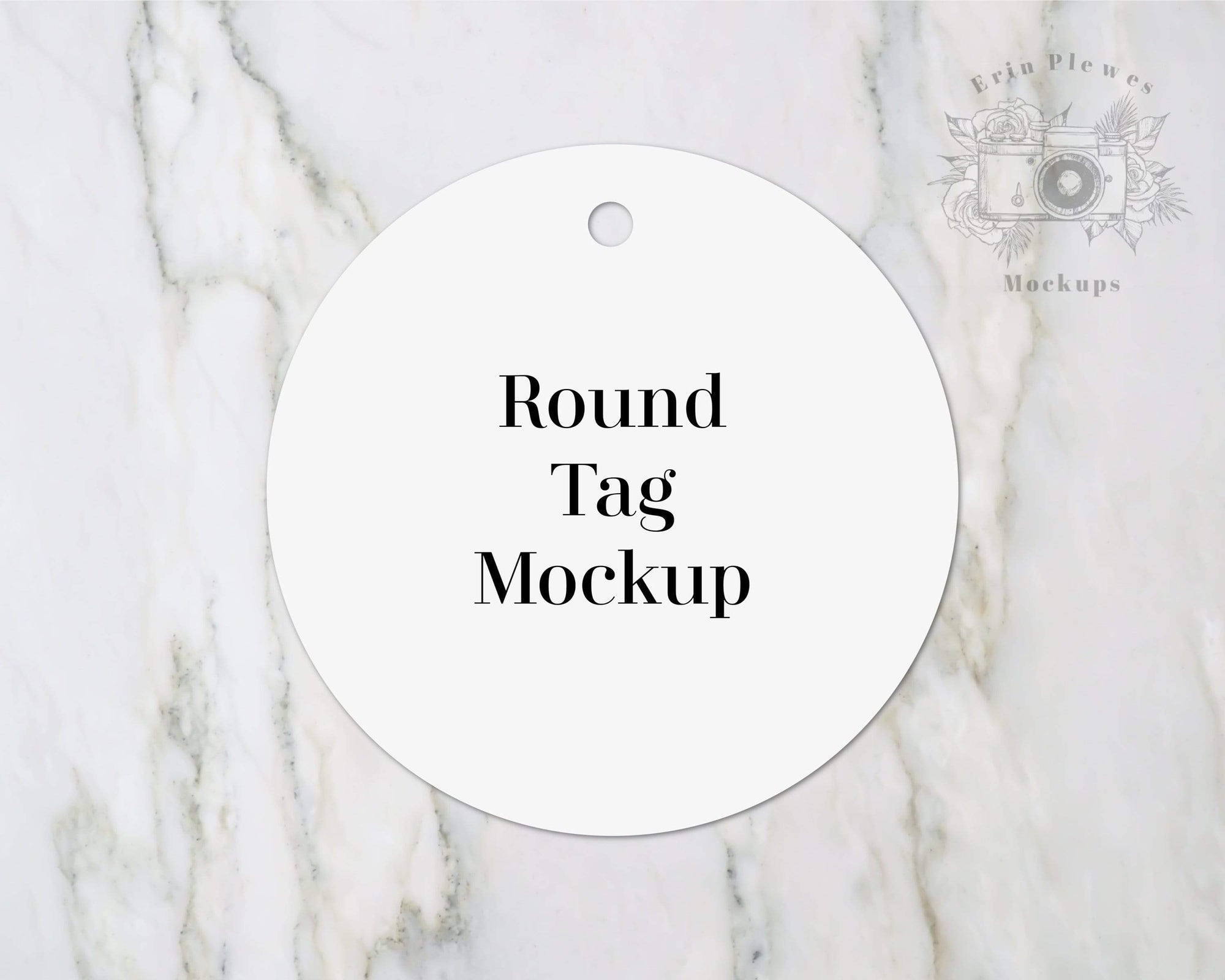 Erin Plewes Mockups Round tag mockup, Wedding gift tag mock up flat lay for present labels and lifestyle stock photography, Jpeg instant Digital Download