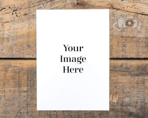 Erin Plewes Mockups Print Mockup 5x7 | Rustic Thank You Note Mock-up | Greeting Card Mock Up