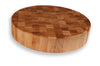 "Maple End Grain Round Chopping Block 3½"" Thick"