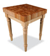 "Maple Country Farm Table End Grain 3"" Thick"