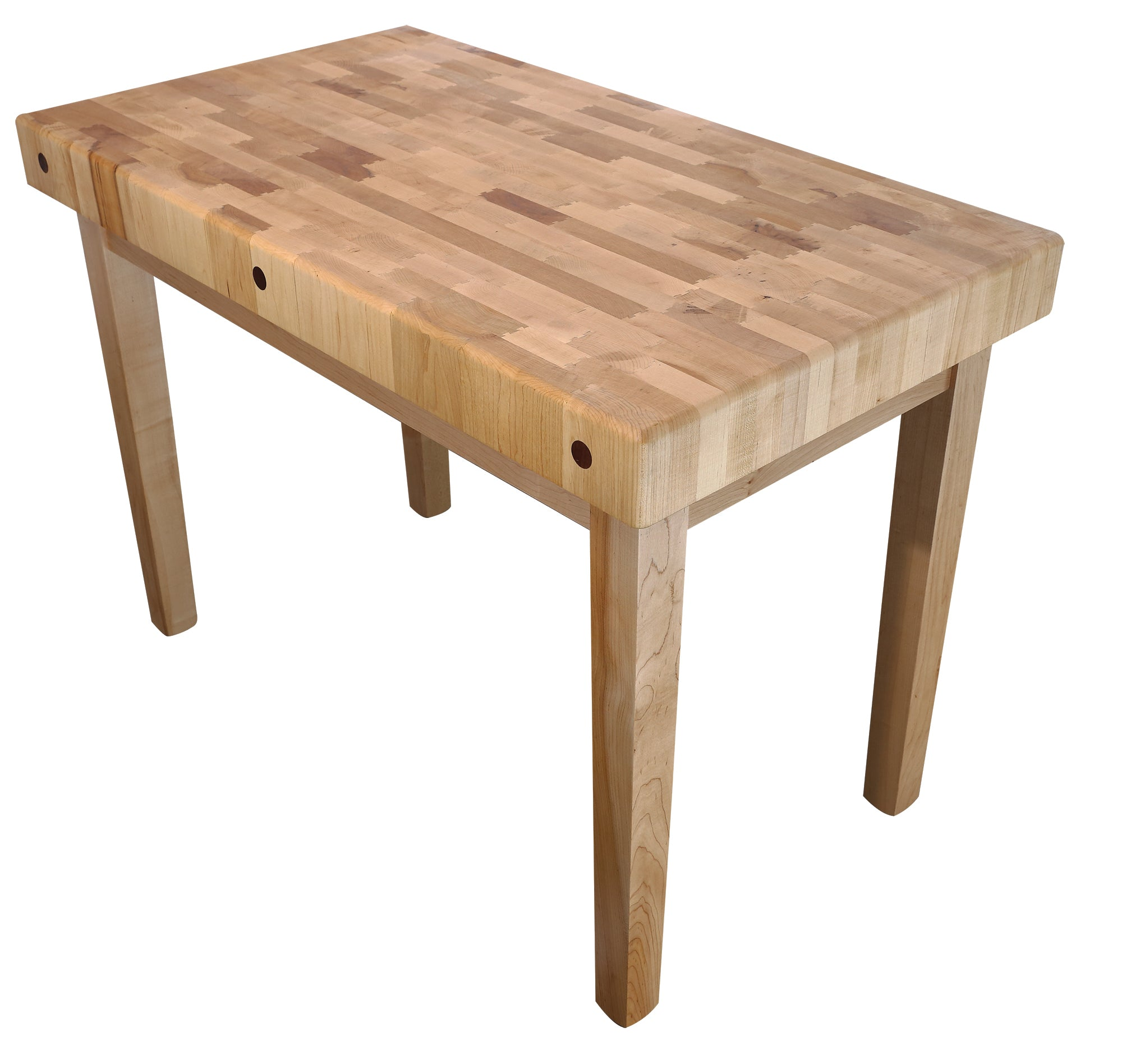End Grain Coffee Table.Maple End Grain Table Island Double Dovetail 4 Thick