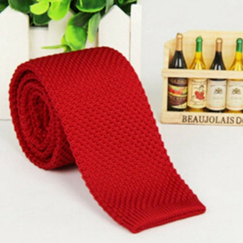 Knit Tie - Red