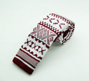 Festive Red Knit Tie