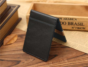 Leather Money Clip Wallet