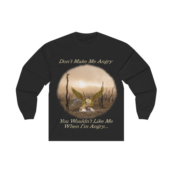 Unisex Long Sleeve Tee T-shirt Angry Baby Gold Dragon - Simple Fandom