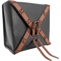 Square Leather Bag LARP Medieval cosplay renaissance faire costume live action role playing reenactment - Simple Fandom