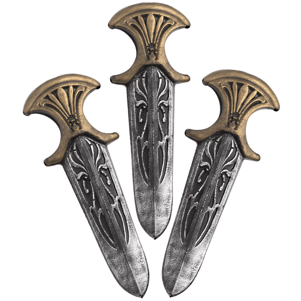 Assassin Inquisitor LARP 3 Throwing Knives - Simple Fandom