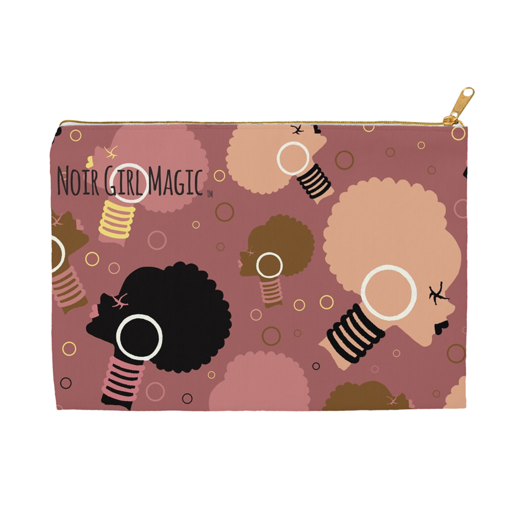 Noir Girl Magic I Rock My Afro Puff's Accessory & Cosmetic Pouches