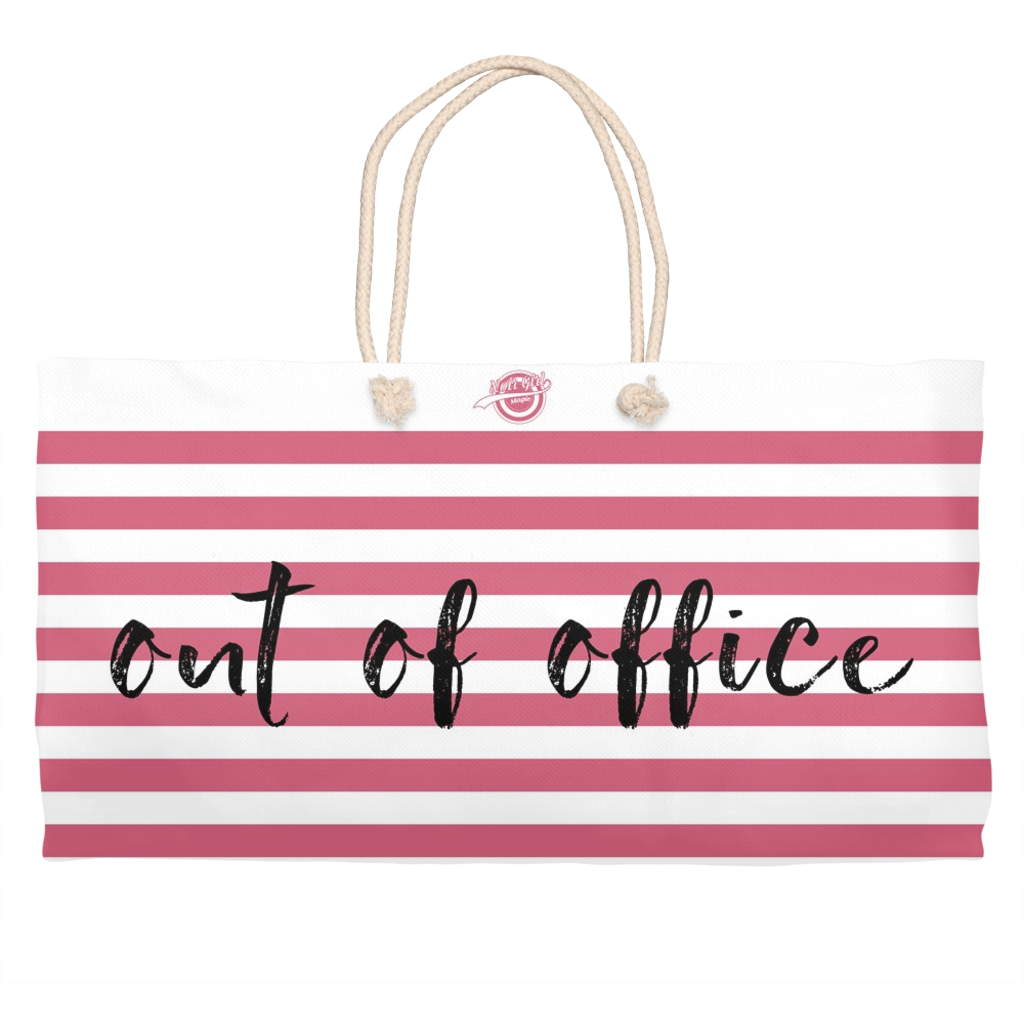 Noir Girl Magic Out Of Office Weekender Tote-Melon