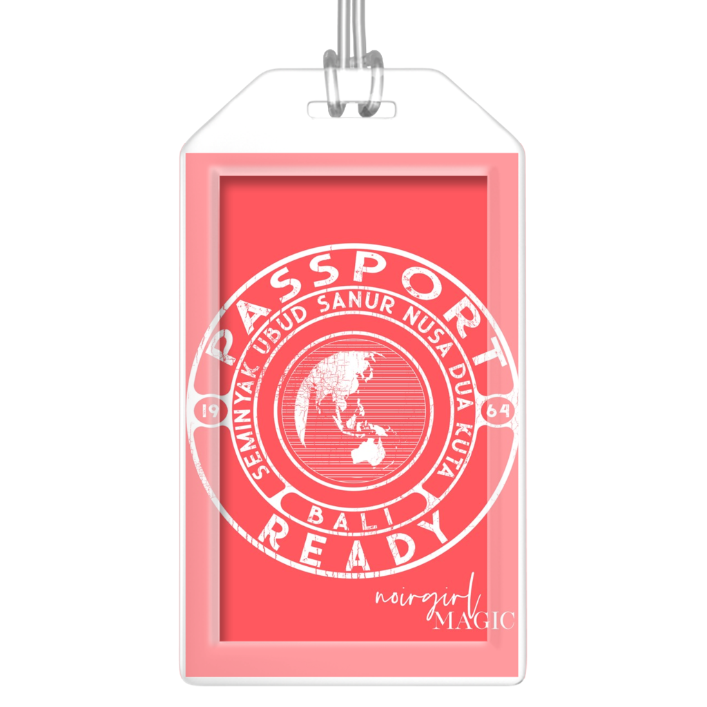 Passport Ready Bali Luggage Tags-Melon