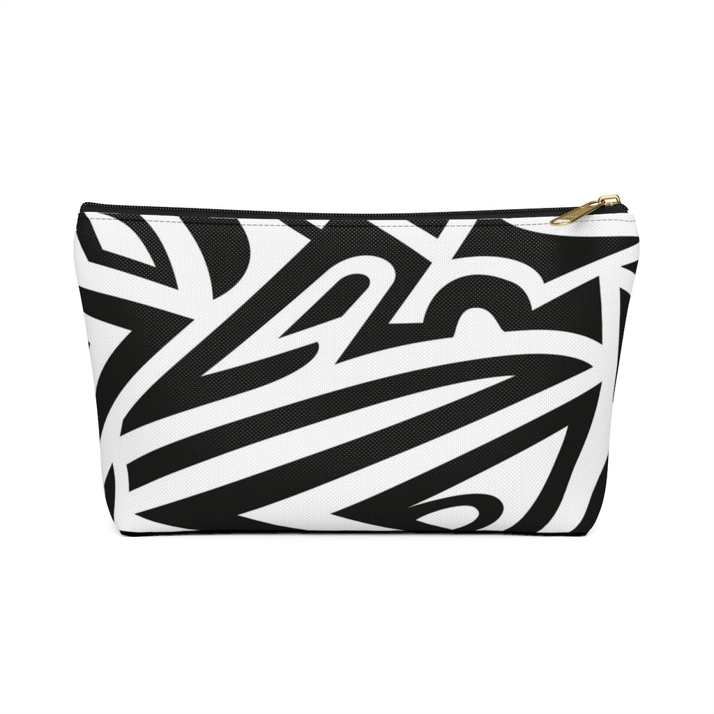 Monochrome African Cosmetic Travel Bag/Packing Cube Front View