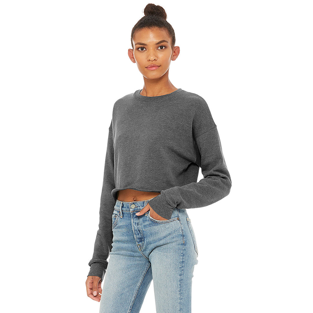 Cropped Fleece Sweatshirt Deep Heather