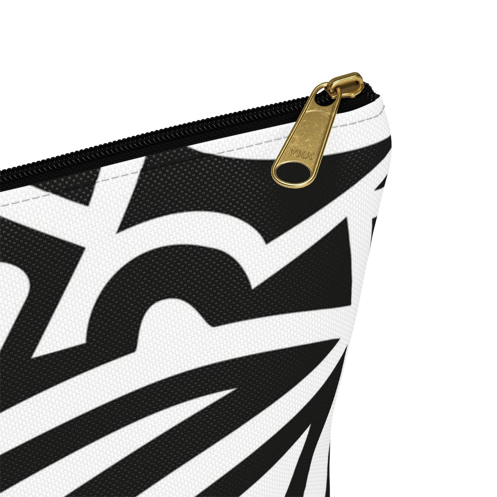Monochrome African Cosmetic Travel Bag/Packing Cube Close Up