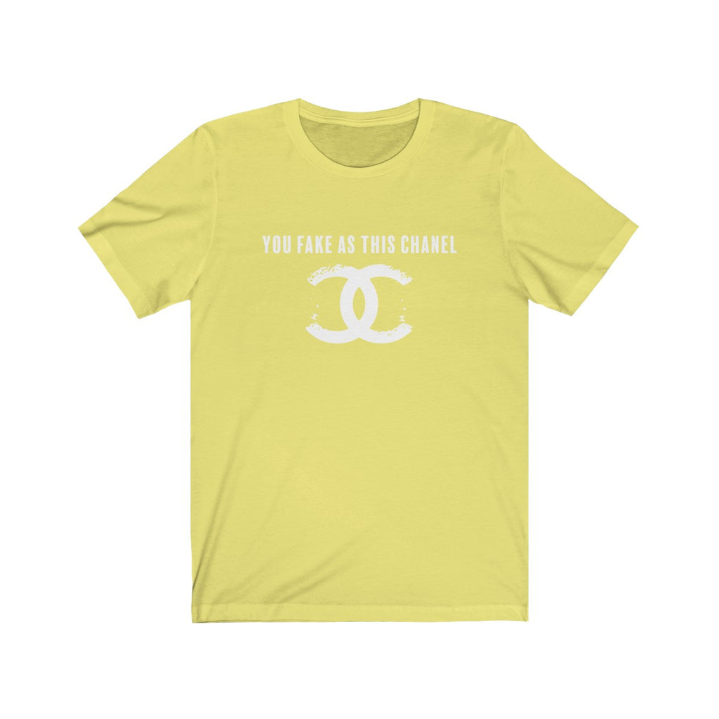 You Fake Jersey Short Sleeve Tee Yellow