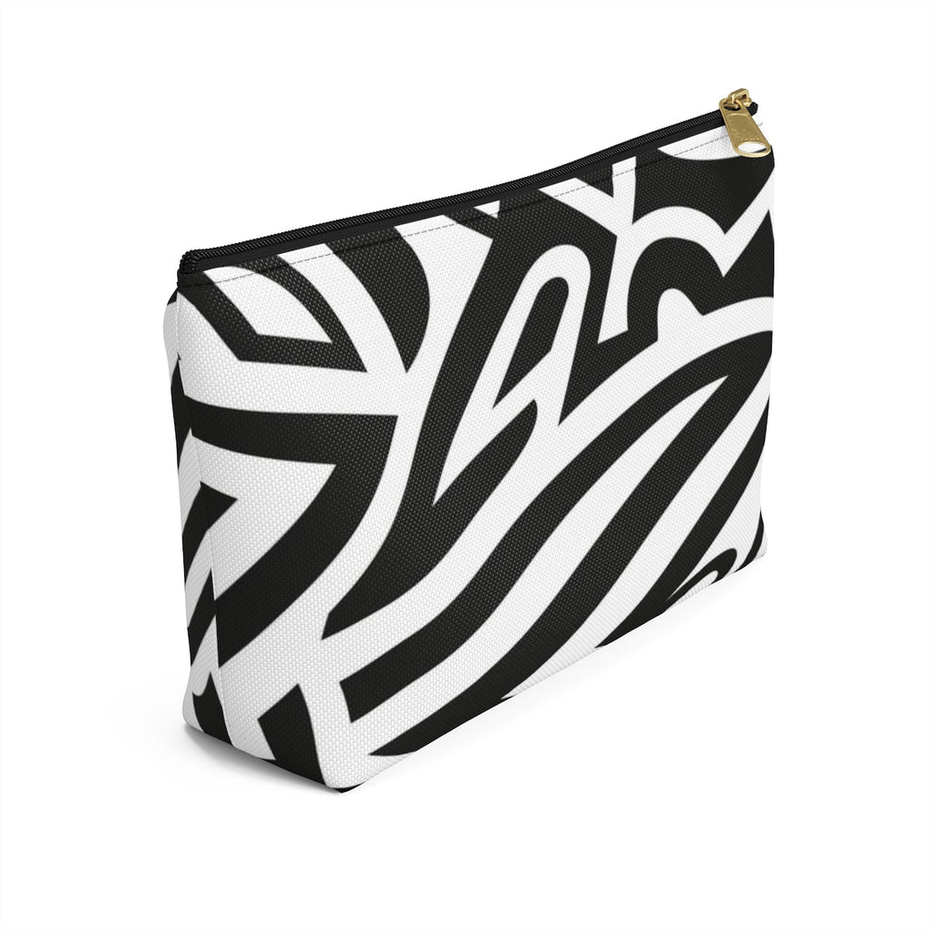 Monochrome African Cosmetic Travel Bag/Packing Cube Side View