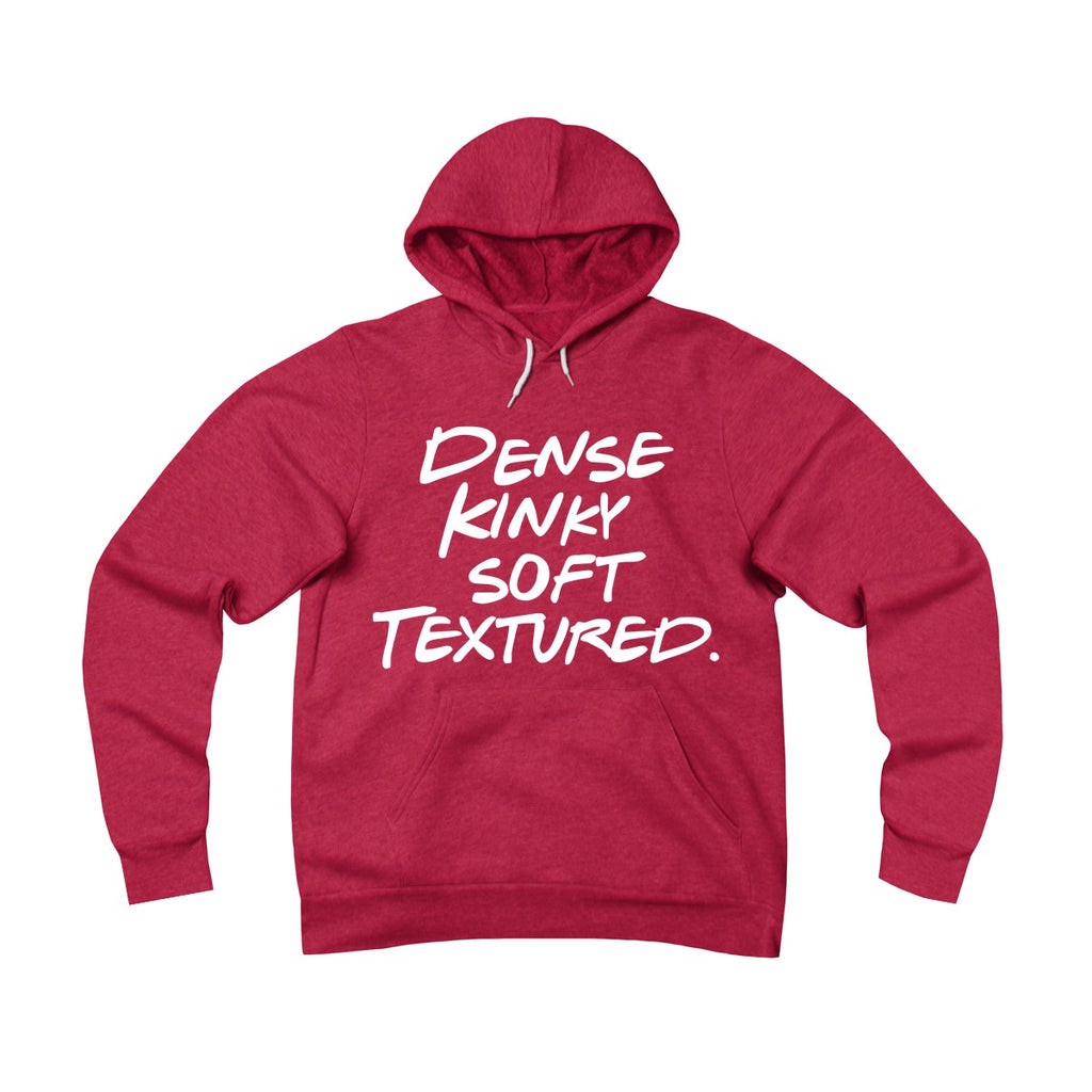 Dense Kinky Soft Textured Pullover Hoodie Red
