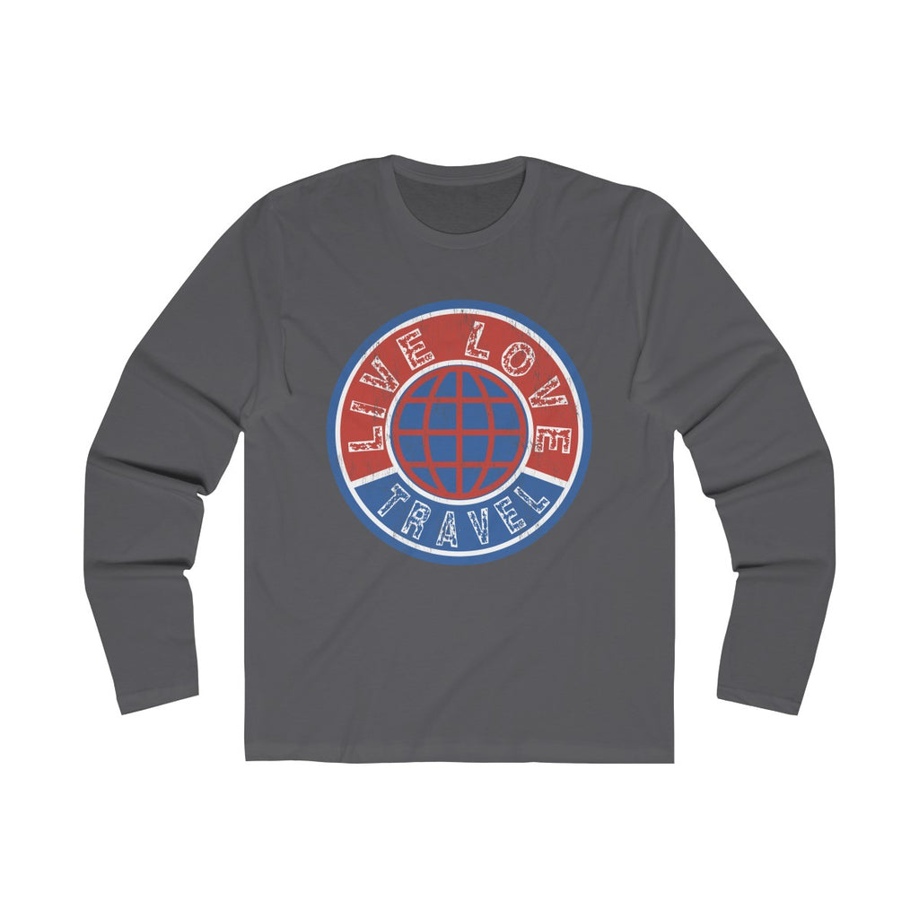 Live Love Travel Men's Long Sleeve Crew Tee