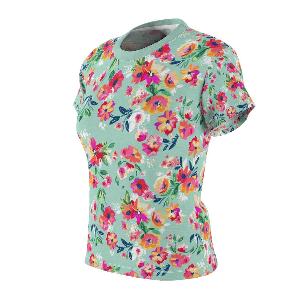 Women's Pretty Floral Flower Tee | Noir Girl Magic